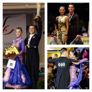 Juline Carrel et David Merenguer Torres  Champion de France 2015 Espoir en danse latine, standard et 10 danses !
